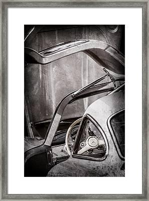 1954 Mercedes-benz 300sl Gullwing Steering Wheel -1653ac Framed Print by Jill Reger