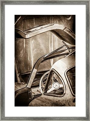 1954 Mercedes-benz 300sl Gullwing Steering Wheel -1653s Framed Print