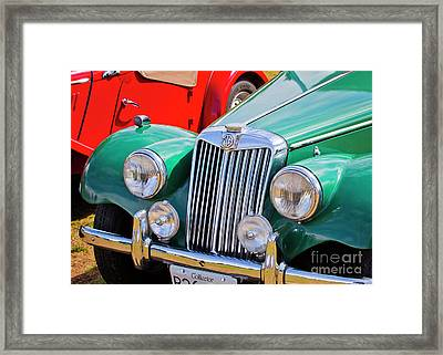 Framed Print featuring the photograph 1954 Mg Tf Sports Car by Chris Dutton
