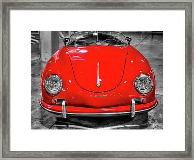 1954 Porsche 356 Speedster  V7 Framed Print