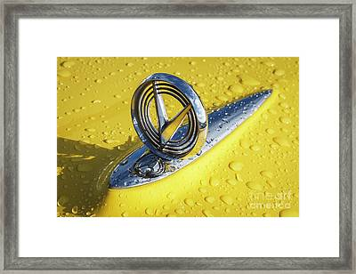 Framed Print featuring the photograph 1955 Buick Hood Ornament by Dennis Hedberg