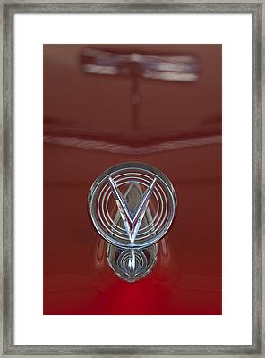 1955 Buick Special Convertible Hood Ornament Framed Print by Jill Reger