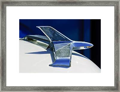 1955 Chevrolet 3100 Hood Ornament 2 Framed Print by Jill Reger