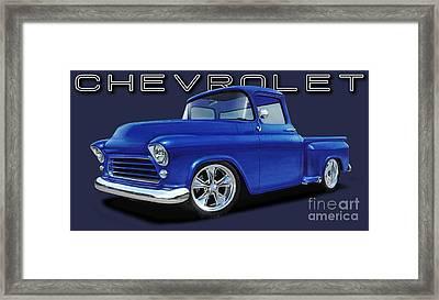 1955 Chevrolet Stepside Framed Print by Paul Kuras