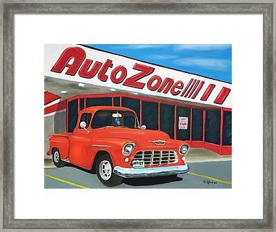 1955 Chevy - Autozone Framed Print