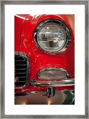 1955 Chevy Bel Air Headlight Framed Print by Sebastian Musial