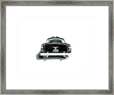 1955 Chevy Bel Air Rear View Framed Print