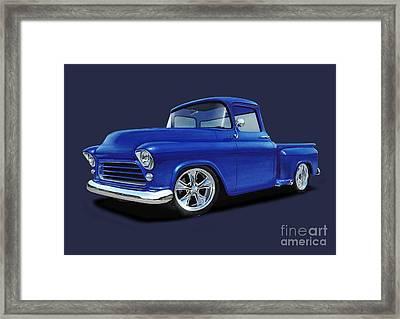 1955 Chevy Stepside Framed Print by Paul Kuras