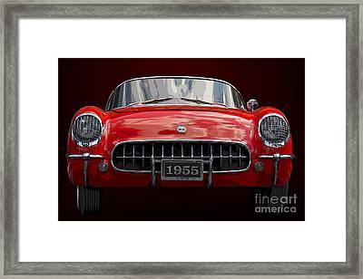 1955 Corvette Framed Print by Dennis Hedberg