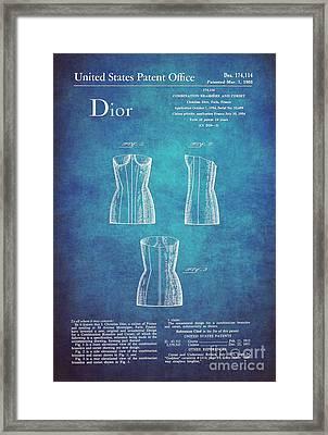 1955 Dior Combo Bra And Corset Design 1 Framed Print