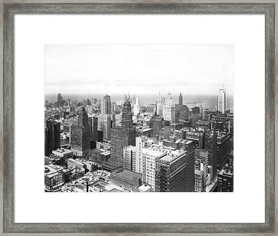 1955 Downtown Chicago Framed Print by Underwood Archives