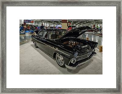Framed Print featuring the photograph 1955 Ford Customline by Randy Scherkenbach