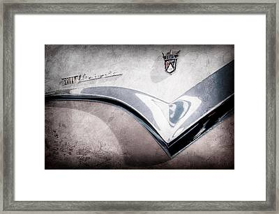 1955 Ford Fairlane Crown Victoria Emblem -0098ac Framed Print
