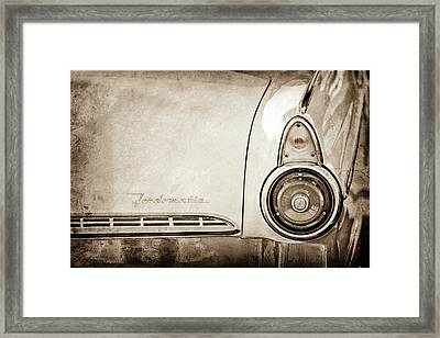 1955 Ford Fairlane Fordomatic Taillight Emblem -0419s Framed Print by Jill Reger