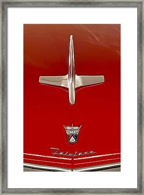 1955 Ford Fairlane Sunliner Convertible Hood Ornament Framed Print by Jill Reger