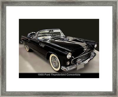 1955 Ford Thunderbird Convertible Framed Print