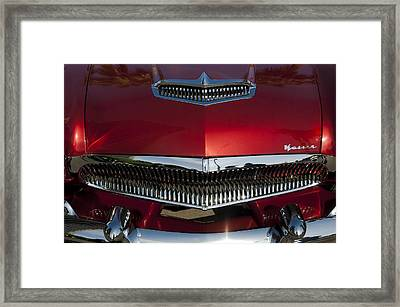 1955 Kaiser Hood Ornament And Grille Framed Print by Jill Reger
