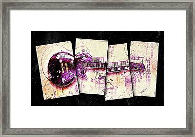 1955 Les Paul Custom Black Beauty V3 Framed Print