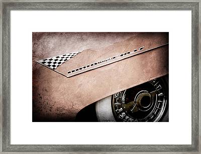1955 Lincoln Indianapolis Boano Coupe Emblem -0295ac Framed Print by Jill Reger