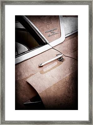 1955 Lincoln Indianapolis Boano Coupe Side Emblem -0355ac Framed Print by Jill Reger