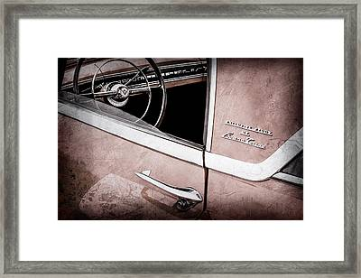 1955 Lincoln Indianapolis Boano Coupe Side Emblem - Steering Wheel -0358ac Framed Print by Jill Reger