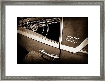 1955 Lincoln Indianapolis Boano Coupe Side Emblem - Steering Wheel -0358s Framed Print by Jill Reger