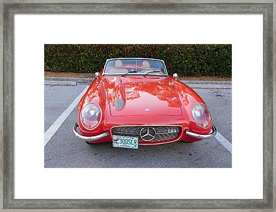 1955 Mercedes 300 Slr Framed Print by Don Columbus
