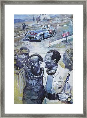1955 Mercedes Benz 300 Slr Moss Jenkinson Winner Mille Miglia  Framed Print