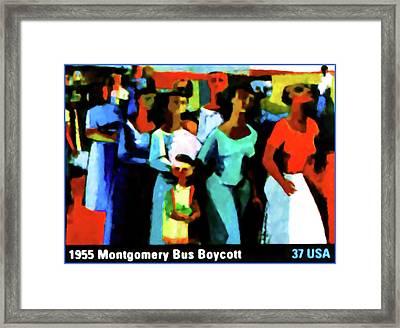 1955 Montgomery Bus Boycott Framed Print by Lanjee Chee
