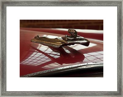 Framed Print featuring the photograph 1955 Nash Ambassador Custom Hood Ornament by Chris Flees
