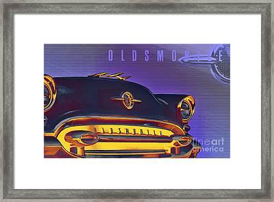 1955 Oldsmobile Ninety-eight 4 Framed Print