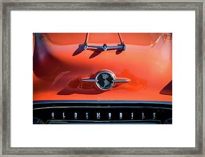 1955 Oldsmobile Rocket 88 Hood Ornament Framed Print by Jill Reger