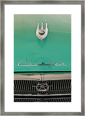 1955 Packard Clipper Hood Ornament Framed Print by Jill Reger
