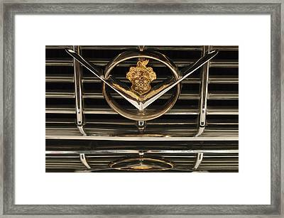 1955 Packard Hood Ornament Emblem Framed Print by Jill Reger