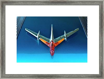 1955 Pontiac Safari Hood Ornament 2 Framed Print by Jill Reger