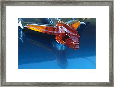 1955 Pontiac Safari Hood Ornament Framed Print by Jill Reger
