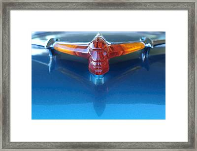 1955 Pontiac Safari Wagon Hood Ornament Framed Print by Jill Reger