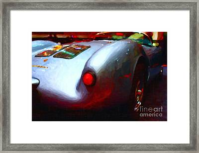 1955 Porsche 550 Rs Spyder . Painterly Style Framed Print by Wingsdomain Art and Photography