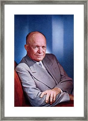 1955 President Dwight D Eisenhower Framed Print by Historic Image