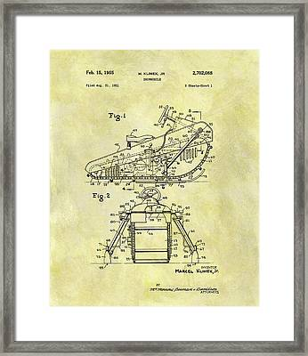 1955 Snowmobile Patent Framed Print
