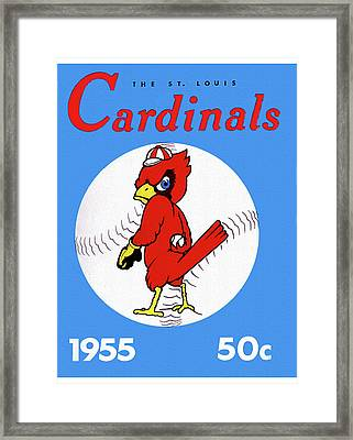 1955 St. Louis Cardinals Yearbook Framed Print by Big 88 Artworks