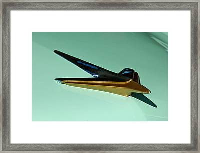 1955 Studebaker Hood Ornament Framed Print by Jill Reger