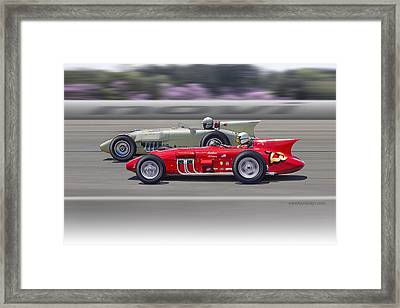 1956-57 Novi Replica Roadsters Framed Print