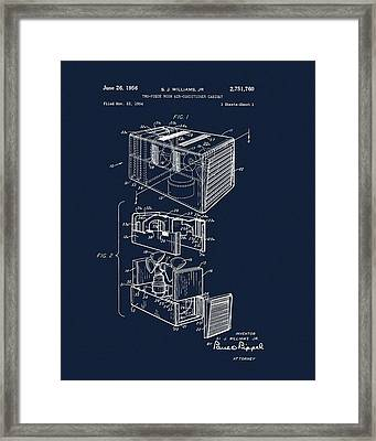 1956 Air Conditioner Patent Framed Print by Dan Sproul