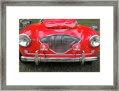 1956 Austin Healey 100 M Framed Print by Jack R Perry
