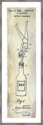 1956 Bottle Stopper Patent Framed Print