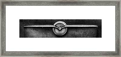 1956 Buick Special Emblem In Black And White Framed Print