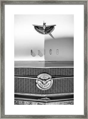 1956 Buick Special Hood Ornament - Emblem -0538bw Framed Print by Jill Reger