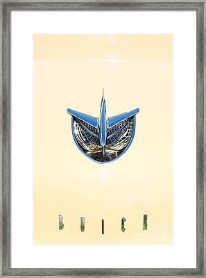 1956 Buick Special Riviera Hood Framed Print by Tim Gainey