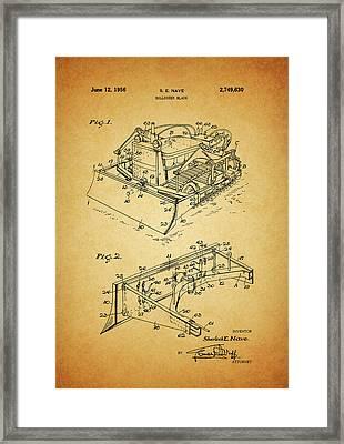 1956 Bulldozer Patent Framed Print